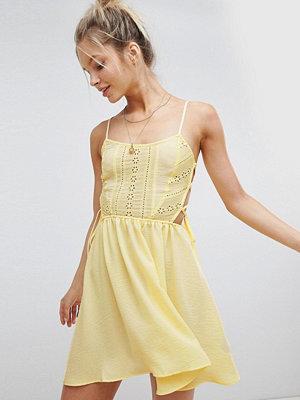 ASOS DESIGN Broderie Tie Side Beach Dress