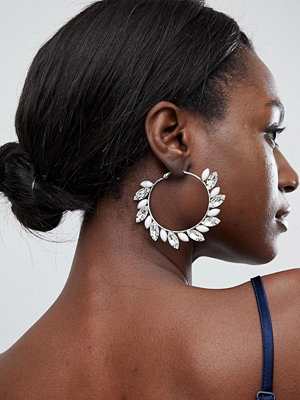True Decadence örhängen Blush Embellished Hoop Earrings