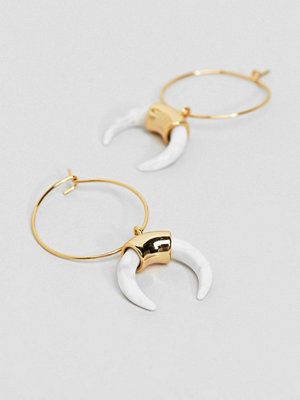 Orelia örhängen Gold Hoop Cresent Earrings