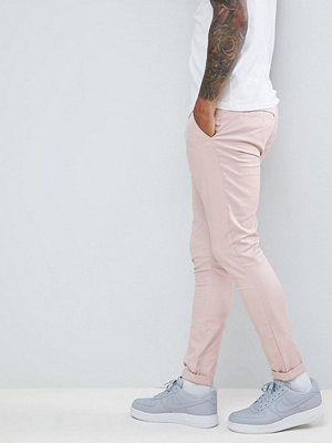 ASOS DESIGN super skinny chinos in ice pink - Rose smoke
