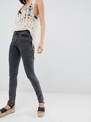 Brave Soul Joey Skinny Jeans with Embellished Back Pockets - Charcoal