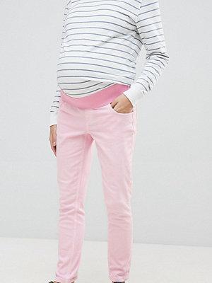 ASOS Maternity Rosatvättade krympta boyfriend-jeans