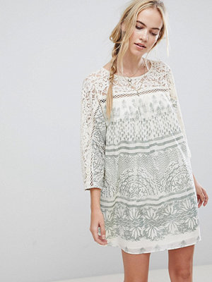Free People Sun Daze Printed Shift Dress - Ivory
