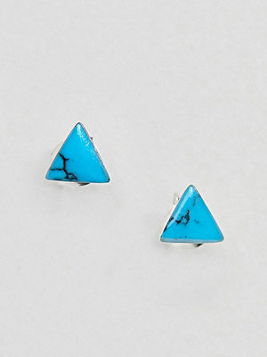 Kingsley Ryan örhängen Sterling Silver Turquoise Triangle Stud Earrings - Turquoise