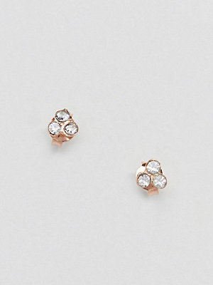 Kingsley Ryan örhängen Rose Gold Plated Rhinestone Stud Earrings - Rose gold