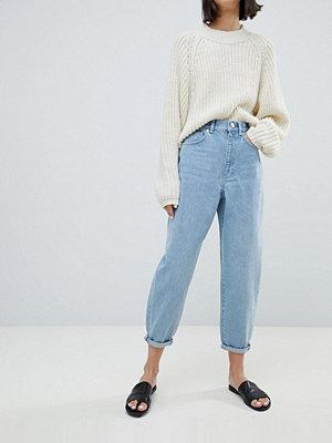 ASOS DESIGN Ljusa vintagefärgade boyfriend-jeans med ballongben Ljus tvätta look i vintagestil