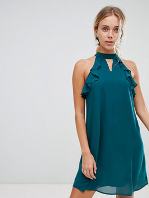 Glamorous frill detail dress - Forest green