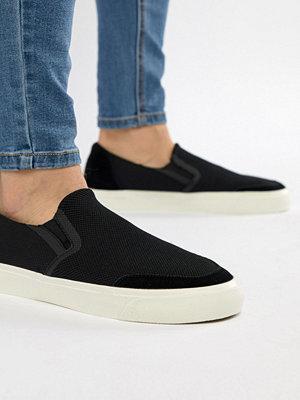 Sneakers & streetskor - Stradivarius Knitted Slip On Trainer