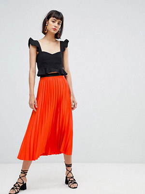 Mango pleat midi skirt