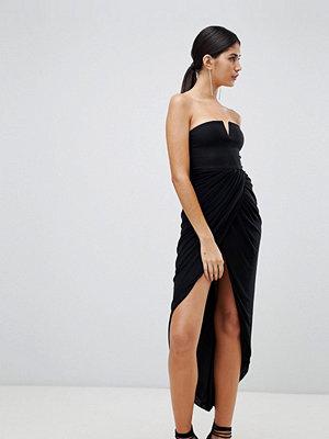 Ra-Re London wrap drapre midi dress
