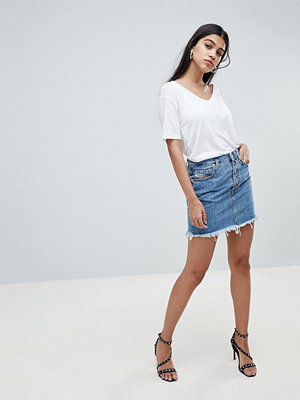 Diesel Denim Skirt with Exposed Button Detail - Medium