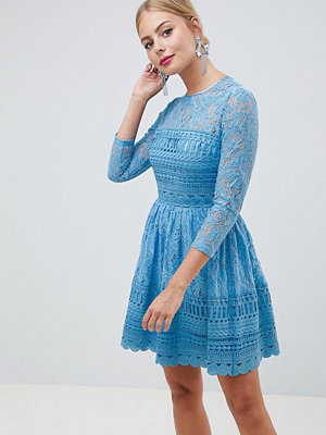 ASOS DESIGN premium lace skater mini dress