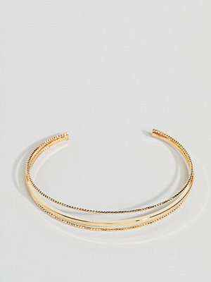 ASOS armband DESIGN cuff bracelet with delicate ball detail