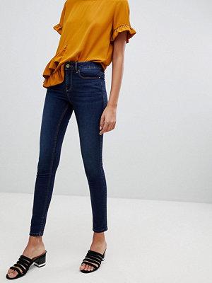 Vila Blå skinny jeans Mörkblå denim