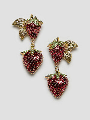 ASOS örhängen DESIGN earrings in strawberry design
