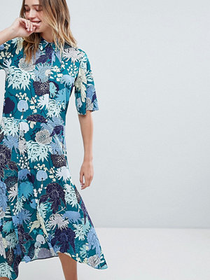 Monki Floral Print Midi Button Up Dress - Japanflower