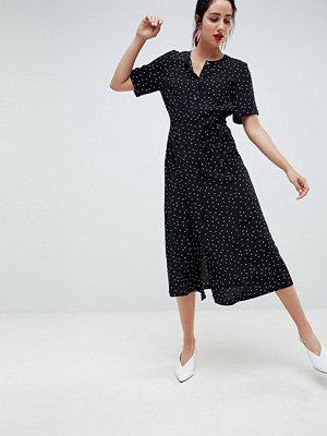 Gestuz polka dot long shirt dress - Black dot