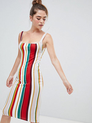 Bershka stripe bodycon dress