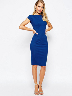 Closet London Closet pencil dress with ruched cap sleeve