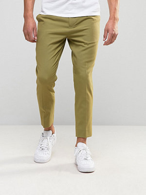 ASOS Tapered Smart Trousers in Green - Cedar