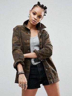 Jeansjackor - ASOS Denim Camo Workwear Jacket - Camo print