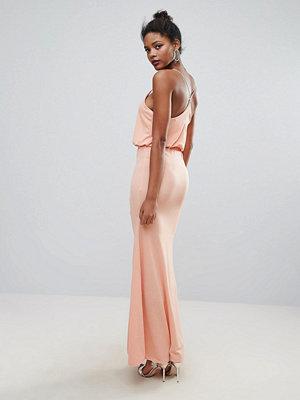 Club L Cross Back Maxi Dress - Peach