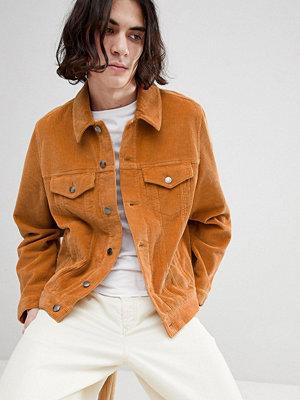 Jeansjackor - ASOS DESIGN cord western jacket in mustard - Mustard