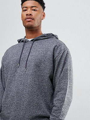 Street & luvtröjor - ASOS DESIGN tall oversized hoodie in charcoal interest fabric - Dark grey