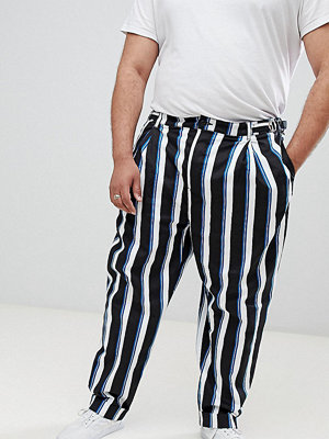 ASOS DESIGN Plus wide balloon trousers in all over stripe