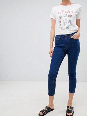Ryder Skinny jeans med hög midja Mellanblå tvätt