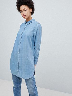 Selected Femme Longline jeansskjorta