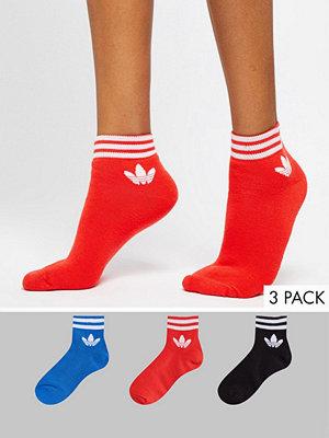 Strumpor - Adidas Originals Liner strumpor 3-pack i rött