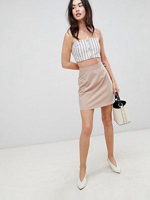 ASOS DESIGN tailored a-line mini skirt - Safari