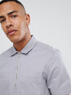 ASOS DESIGN tall oversized overhead half zip shirt
