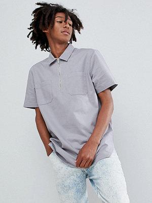 ASOS DESIGN oversized overhead half zip shirt
