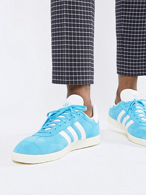 Sneakers & streetskor - Adidas Originals Gazelle Suede Trainers In Blue B37945