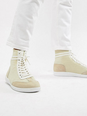 Sneakers & streetskor - ASOS DESIGN high top trainers in off white knit