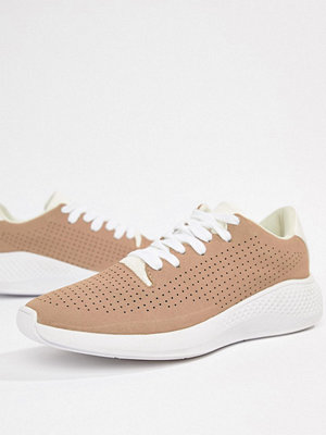 ASOS DESIGN trainers in pink with white sole