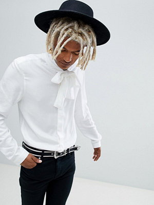 ASOS DESIGN regular fit shirt with pussy bow
