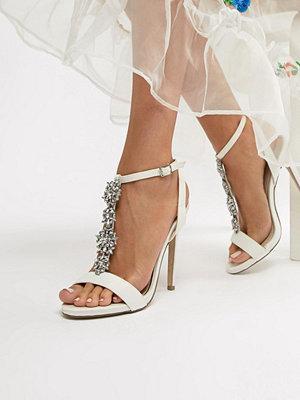 New Look Satin Embellished Heeled Sandal