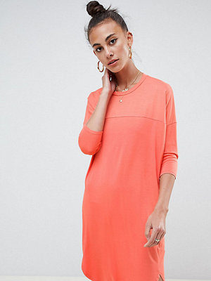 Asos Tall Oversize T-Shirt Dress with Seam Detail - Coral