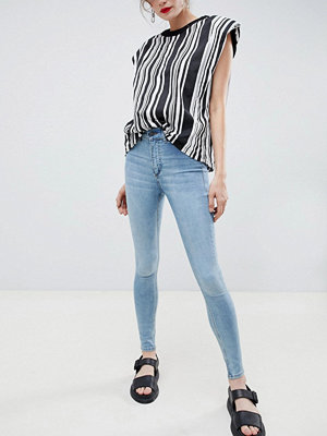 Cheap Monday Skinny jeans med hög midja Stone bleach