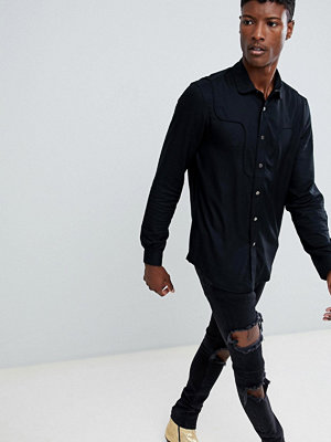 ASOS DESIGN regular fit western shirt with poppers