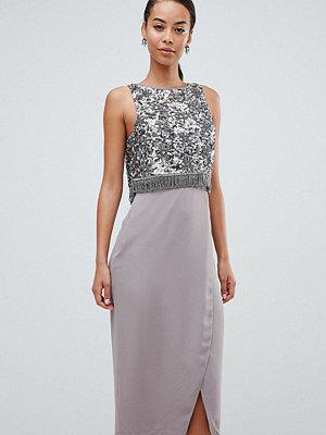 Asos Tall ASOS DESIGN Tall Exclusive Fringe Embellished Pencil Dress