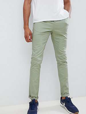 ASOS DESIGN Tall skinny chinos in sage green - Tea