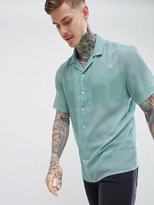 ASOS DESIGN festival oversized sheer shirt with panel