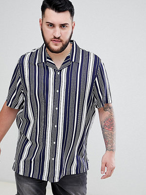 ASOS DESIGN Plus regular fit stripe shirt