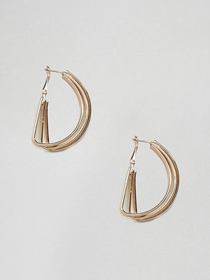 Monki örhängen multi ring hoop earrings