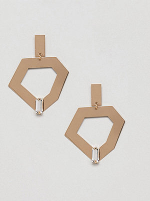 Monki örhängen Abstract Gem Drop Earrings