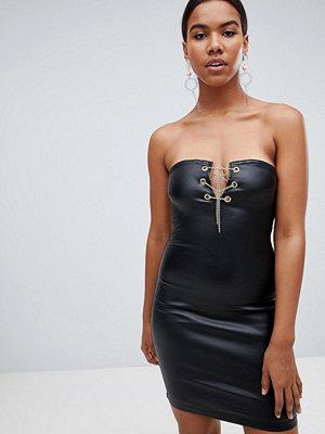Missguided coated denim dress